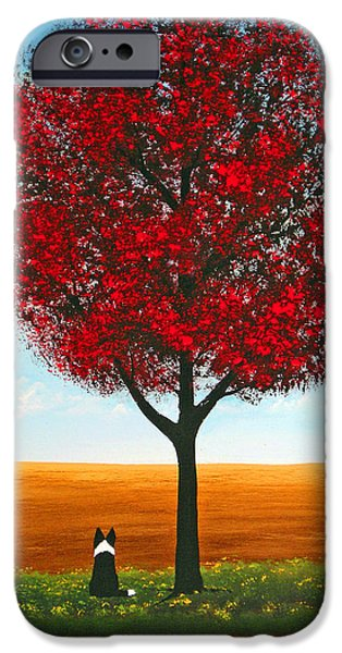 Tree Art Print iPhone Cases - Prairie Field iPhone Case by Todd Young