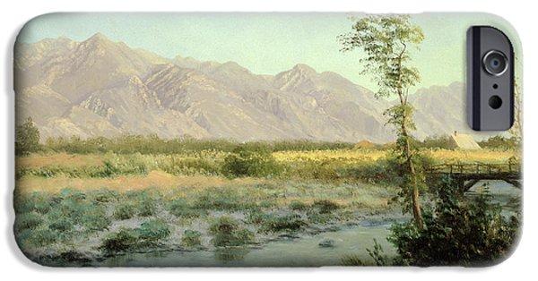 School Houses iPhone Cases - Prairie Landscape iPhone Case by Albert Bierstadt