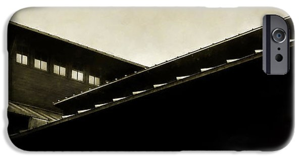 Overhang Photographs iPhone Cases - Prairie Lines iPhone Case by Scott Norris