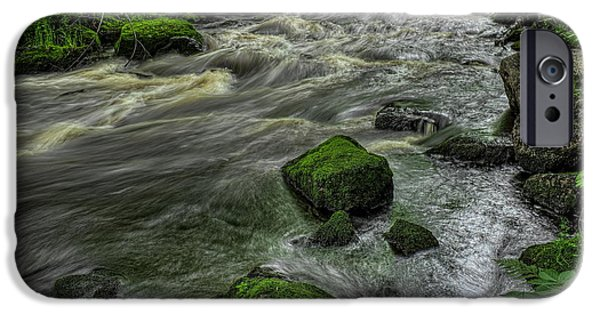Lincoln iPhone Cases - Prairie River Meandering From the North iPhone Case by Dale Kauzlaric