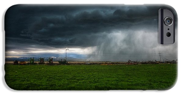 Meadow Photographs iPhone Cases - Prairie Squall II iPhone Case by Jamie Tipton