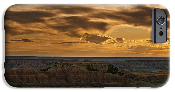 Badlands iPhone Cases - Prairie Wind Overlook Badlands South Dakota iPhone Case by Steve Gadomski