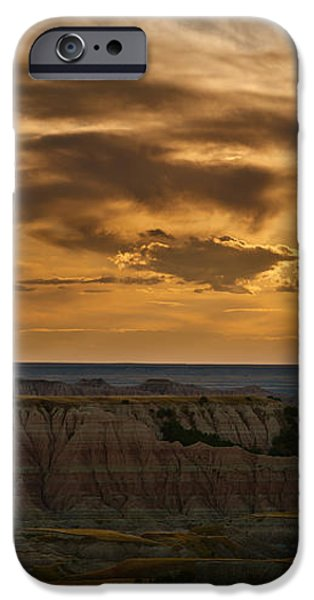 Prairie Wind Overlook Badlands South Dakota iPhone Case by Steve Gadomski