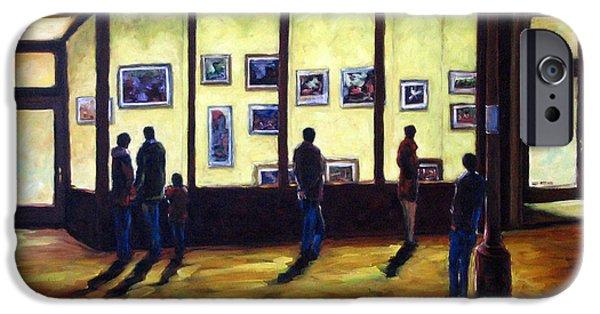 Canadiens Paintings iPhone Cases - Pranke iPhone Case by Richard T Pranke