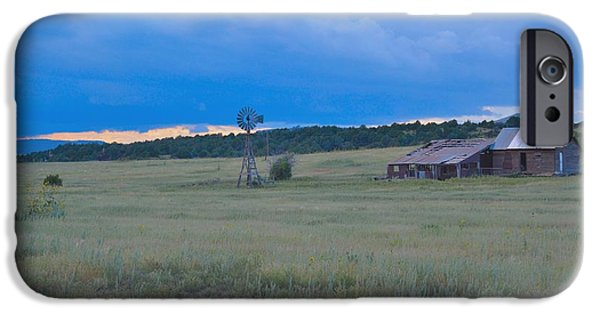 Old Barn iPhone Cases - Prarie Dreams iPhone Case by Michael Norwood