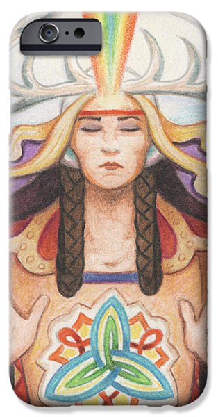 Pray For Unity Dream Of Peace iPhone Case by Amy S Turner