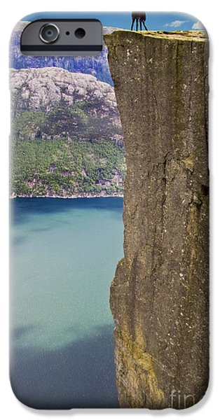Recently Sold -  - Norway iPhone Cases - Preachers Pulpit iPhone Case by Heiko Koehrer-Wagner