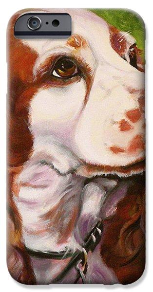 Precious Spaniel iPhone Case by Susan A Becker