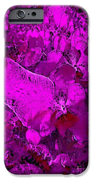 Preditor iPhone Cases - Predatory Petals iPhone Case by Ron Bissett