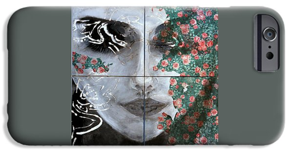 Thinking iPhone Cases - Presence in Both Realities iPhone Case by Niaz Hekmat