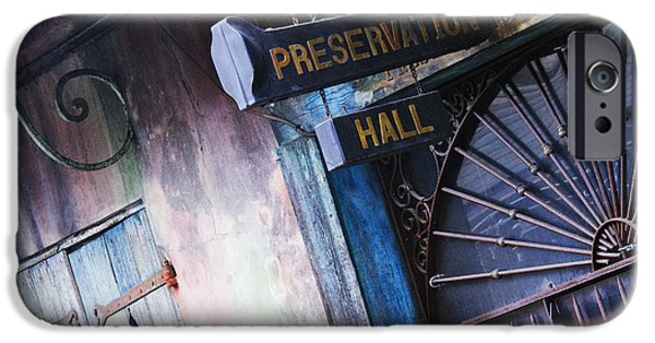 Best Sellers -  - Facade iPhone Cases - Preservation Hall Sign iPhone Case by Jeremy Woodhouse