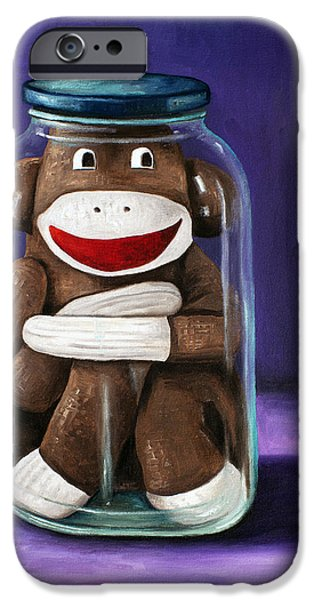 Socks iPhone Cases - Preserving Childhood 3 iPhone Case by Leah Saulnier The Painting Maniac