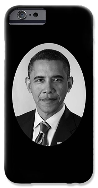 President Barack Obama iPhone Case by War Is Hell Store