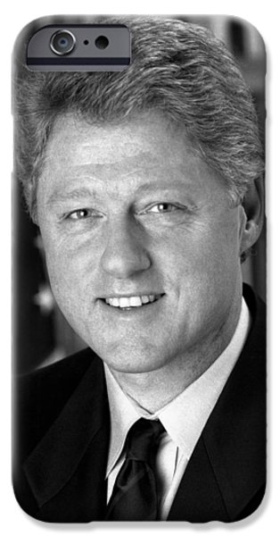 President Bill Clinton iPhone Case by War Is Hell Store
