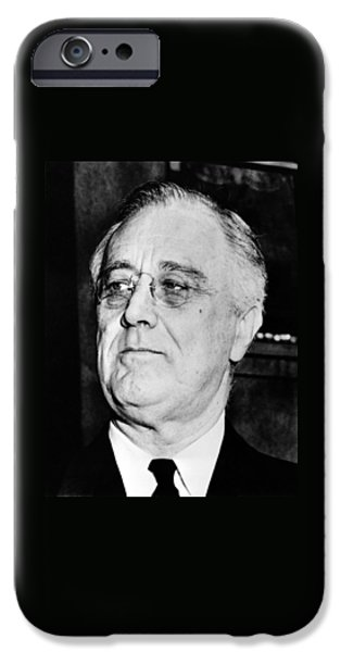 Democrat iPhone Cases - President Franklin Delano Roosevelt iPhone Case by War Is Hell Store