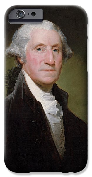 President George Washington iPhone Case by War Is Hell Store