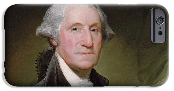 American Revolution iPhone Cases - President George Washington iPhone Case by War Is Hell Store