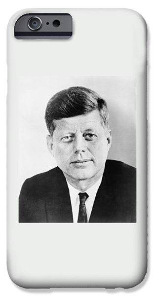 Democrat iPhone Cases - President John F. Kennedy iPhone Case by War Is Hell Store