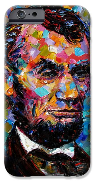 Recently Sold -  - President iPhone Cases - President Lincoln iPhone Case by Debra Hurd