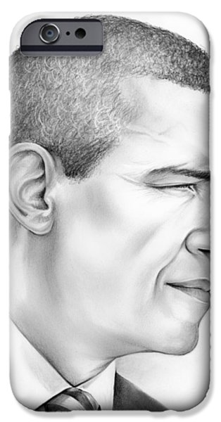 Barack Obama iPhone Cases - President Obama iPhone Case by Greg Joens