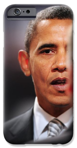 President Obama Photographs iPhone Cases - President Obama Ii iPhone Case by Rafa Rivas