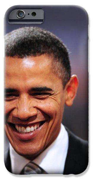 President Obama Photographs iPhone Cases - President Obama Iii iPhone Case by Rafa Rivas