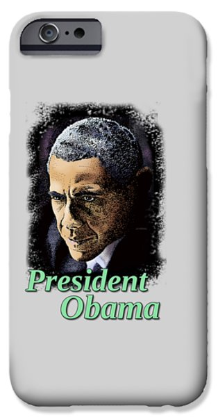 Obama iPhone Cases - President Obama iPhone Case by Joseph Juvenal