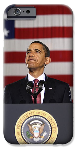 44th President iPhone Cases - President Obama iPhone Case by War Is Hell Store
