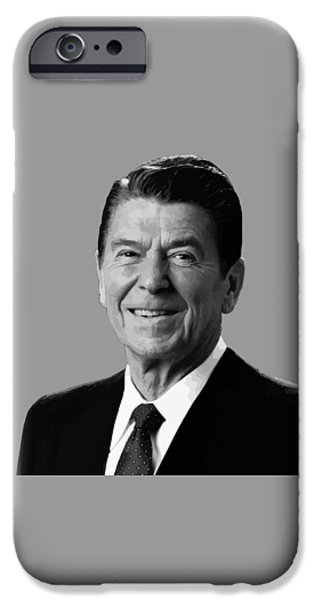 Cold iPhone Cases - President Reagan iPhone Case by War Is Hell Store