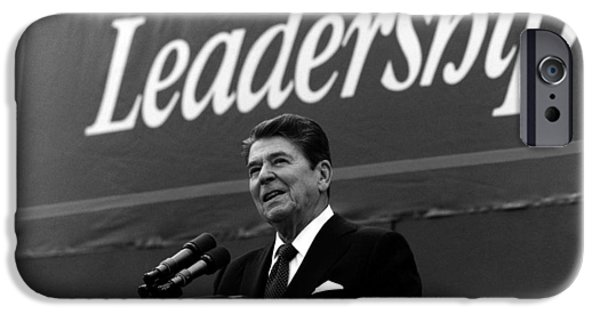 Recently Sold -  - President iPhone Cases - President Ronald Reagan Leadership Photo iPhone Case by War Is Hell Store