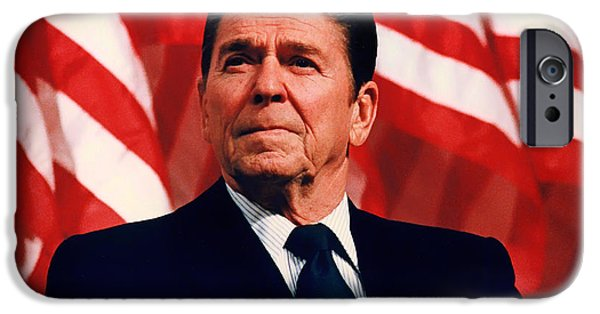 Recently Sold -  - President iPhone Cases - President Ronald Reagan Speaking - 1982 iPhone Case by Mountain Dreams