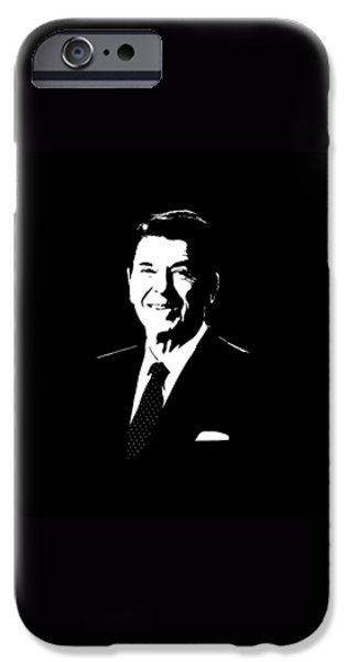 Reagan iPhone Cases - President Ronald Reagan iPhone Case by War Is Hell Store