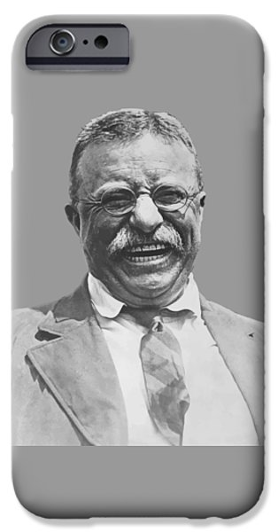 Honor iPhone Cases - President Teddy Roosevelt iPhone Case by War Is Hell Store