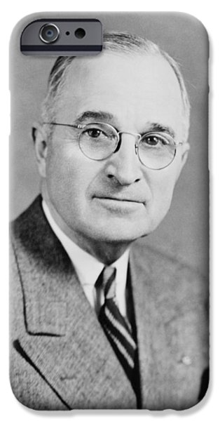 Ems iPhone Cases - President Truman iPhone Case by War Is Hell Store