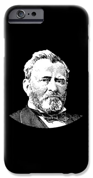 U.s Heroes iPhone Cases - President Ulysses S. Grant iPhone Case by War Is Hell Store