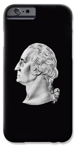 American Revolution Digital Art iPhone Cases - President Washington Bust  iPhone Case by War Is Hell Store