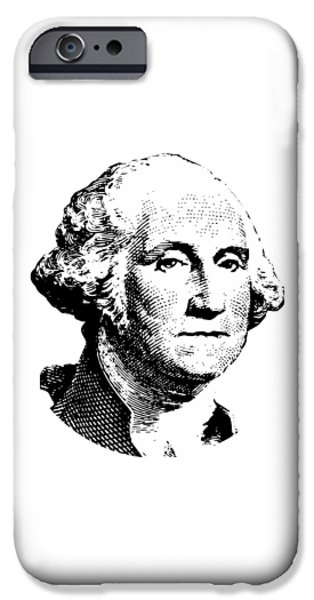 American Revolution Digital Art iPhone Cases - President Washington iPhone Case by War Is Hell Store