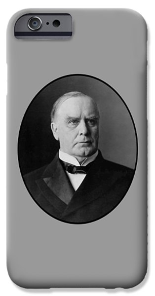 President Digital Art iPhone Cases - President William McKinley  iPhone Case by War Is Hell Store