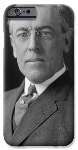 Democratic Party iPhone Cases - President Woodrow Wilson iPhone Case by War Is Hell Store
