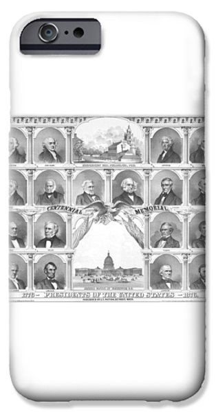 Presidents Of The United States 1776-1876 iPhone Case by War Is Hell Store