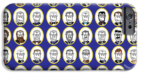 President iPhone Cases - Presidents iPhone Case by OWTF Man