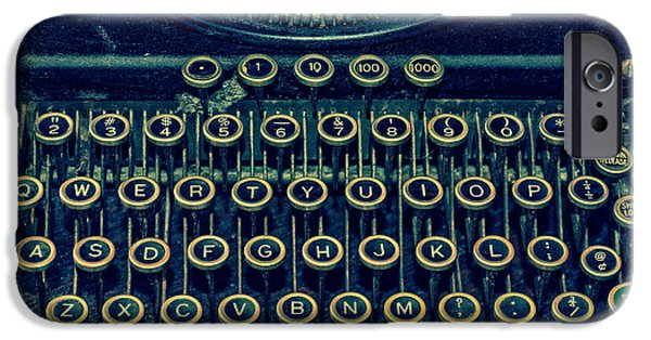 Typewriter Keys Photographs iPhone Cases - Press Any Key iPhone Case by Emily Enz