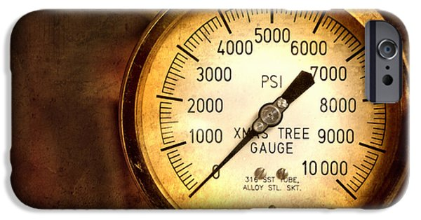 Industrial iPhone Cases - Pressure Gauge iPhone Case by Charuhas Images