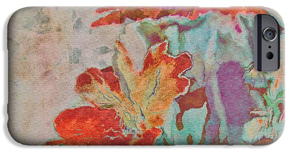 Texture Floral iPhone Cases - Pretty Bouquet - a09z7bt2 iPhone Case by Variance Collections