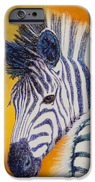 Stripes Pastels iPhone Cases - Pretty Girl iPhone Case by Tracy L Teeter
