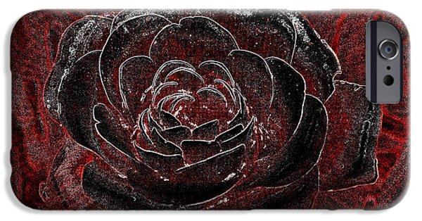 Petals Tapestries - Textiles iPhone Cases - Pretty in Red iPhone Case by Edna Weber