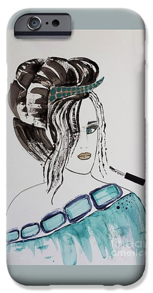 Fabulous Gifts iPhone Cases - Pretty Lady iPhone Case by Jasna Gopic