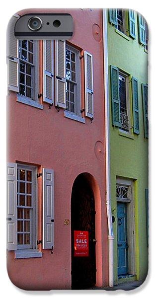 Pretty Lane in Charleston iPhone Case by Susanne Van Hulst