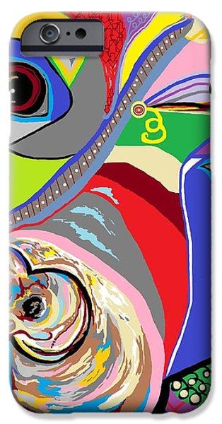 Pretty Pitty iPhone Case by Eloise Schneider