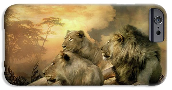 Lion Print iPhone Cases - Pride iPhone Case by Carol Cavalaris